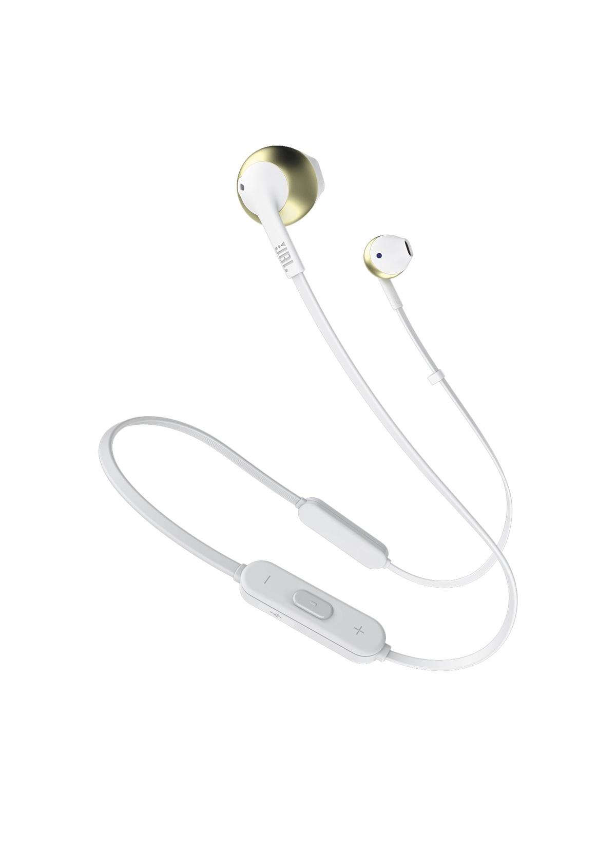 Standart JBL T205 BT Şampanya Bluetooth Mikrofon Kulak İçi Kulaklık